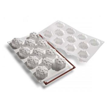 Molde silicona bizcochitos, piruletas de Copo de Nieve SLK