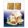 Molde silicona Home Sweet Home Casita de Gengibre SLK