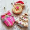 Molde silicona bizcochitos, piruletas My Christmas Cookies Oro SLK