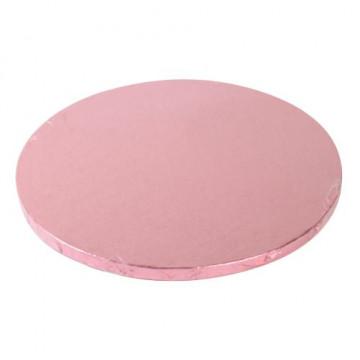 Bandeja presentación redonda color rosa 30 cm