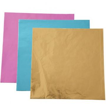 Envoltorios para cakepops colores azul, rosa y oro Wilton