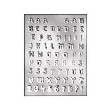 Molde bombones Alfabeto y números SLK