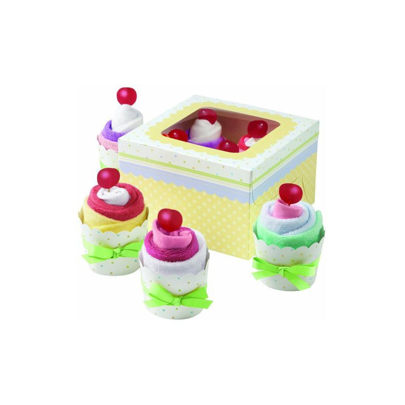 Set para cupcakes + cajas Layette Wilton