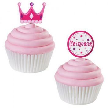 Pack de 12 toppers Princess Wilton
