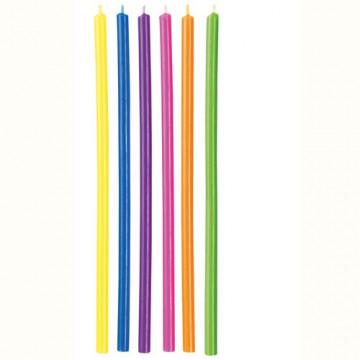 Velas extralargas de colores Wilton