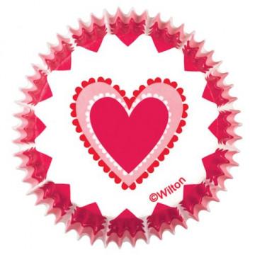 "Cápsulas cupcakes Corazón ""Do Something Sweet"" Wilton"