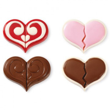Molde para galletas bombón Doble Corazón Wilton
