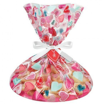 Pack 4 bolsas + platos Corazones San Valentín