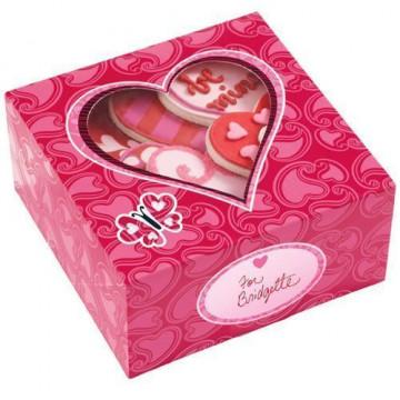"""Cajas, pack 3 cajas presentación para galletas """"You bake my smile"""" Wilton"""