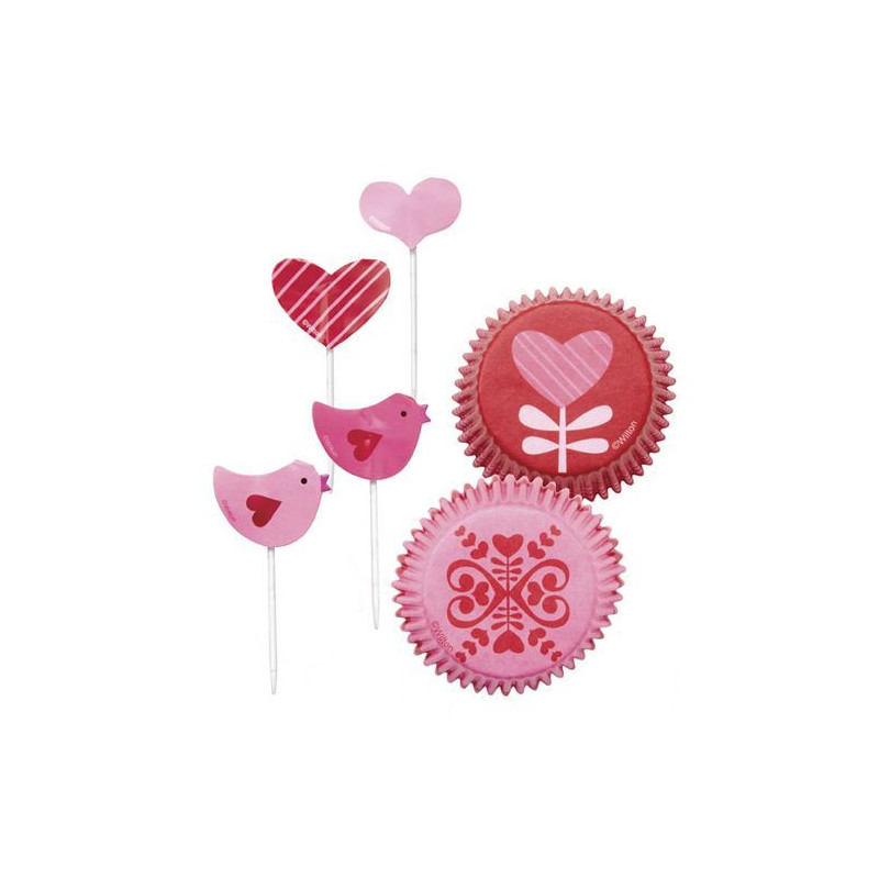 "Set para cupcakes: ""You bake my smile"" Wilton"