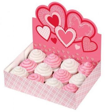 Caja Stand Expositor 12 Cupcakes San Valentin Wilton