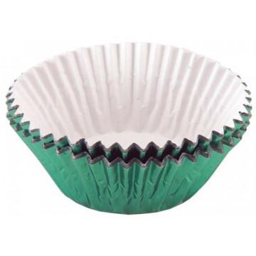 Capsulas cupcakes Metalizada Verde Tala