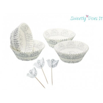 Set para cupcakes: Silver Patterned Sweet does it