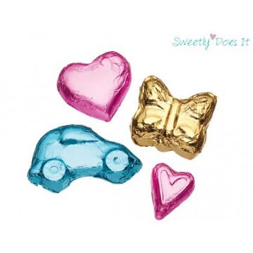 Envoltorios para cakepops colores azul, rosa y oro KC