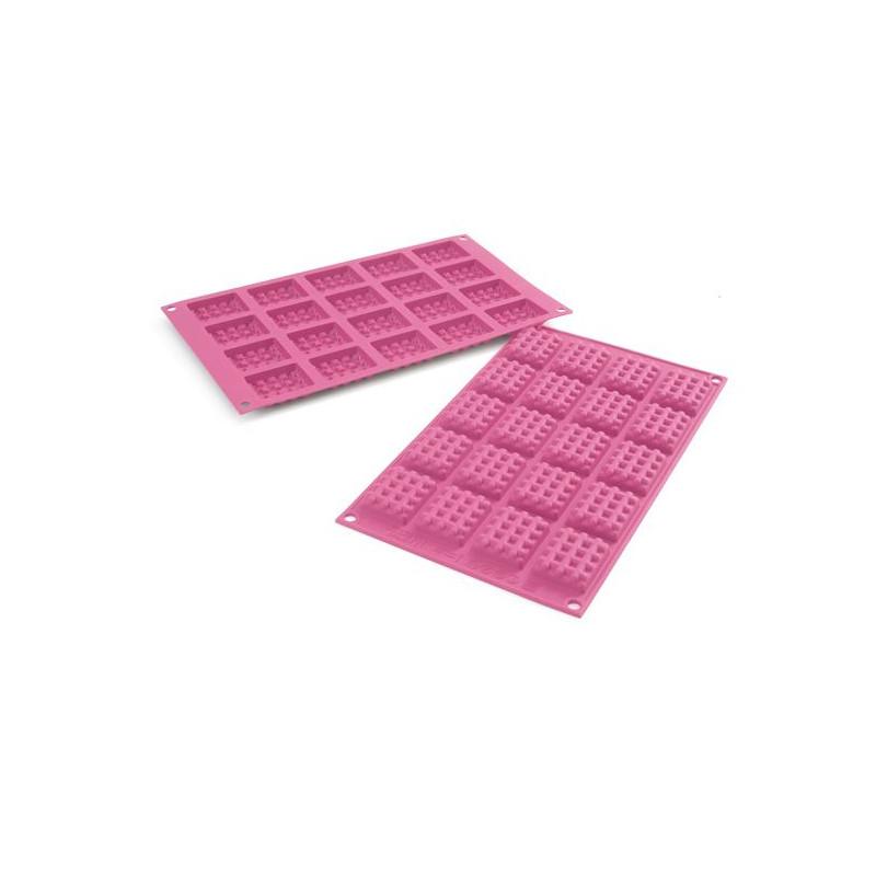 Molde para mini waffel, gofres cuadrados SLK