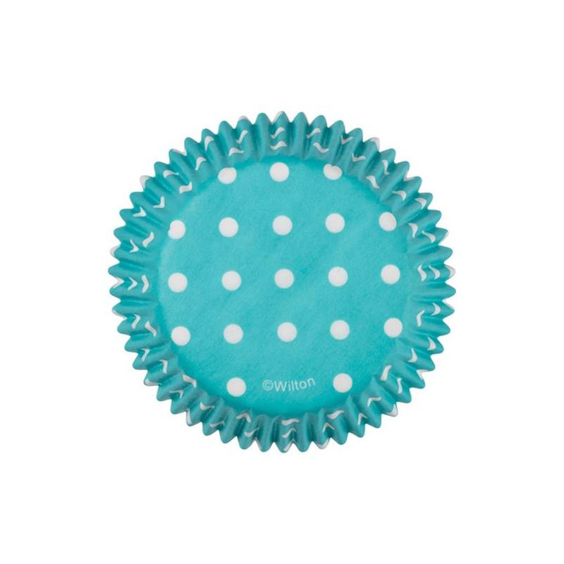 Capsulas cupcakes Dots Blue Wilton