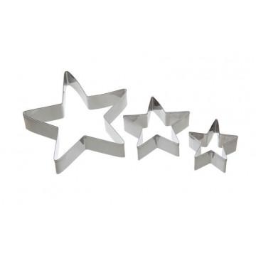 Cortante pack 3 estrellas grandes