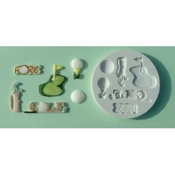Molde silicona Golf Alphabet Mould