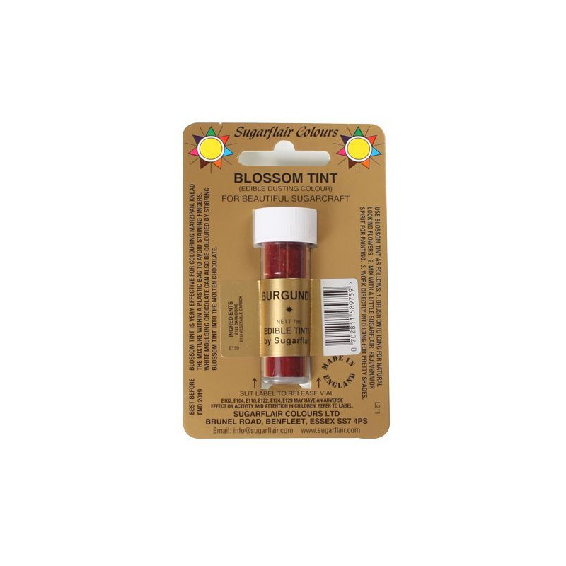 Colorante en polvo Burgundy Blossom  Sugarflair