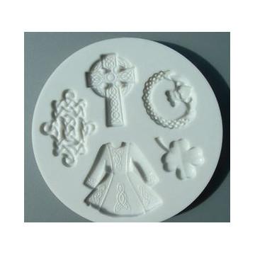 Molde silicona Luck of Irish Alphabet Mould