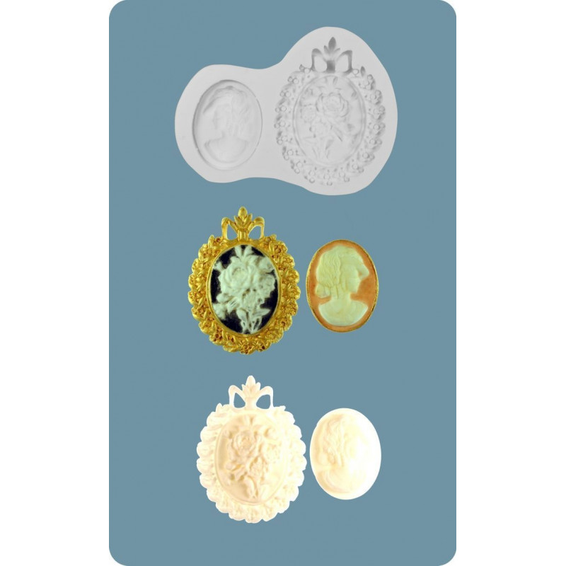 Molde silicona Camafeo Barroco FPC