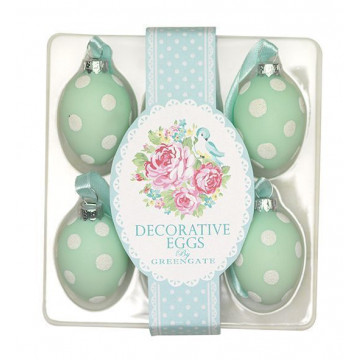 Huevos decorativos pack 6 June Mint Green Gate