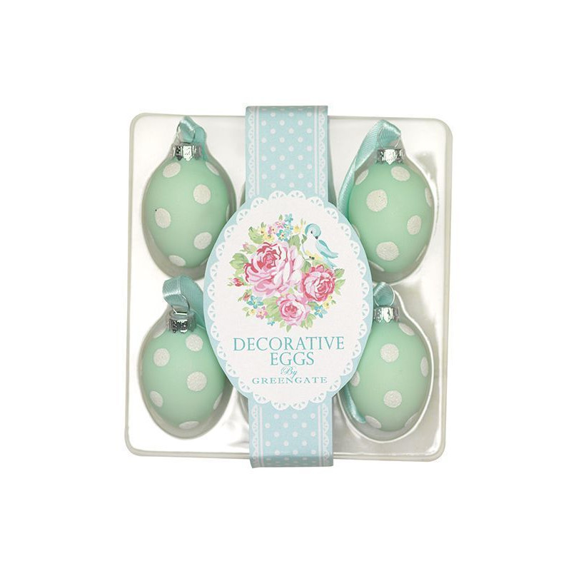 Huevos decorativos pack 6 June Mint Green Gate