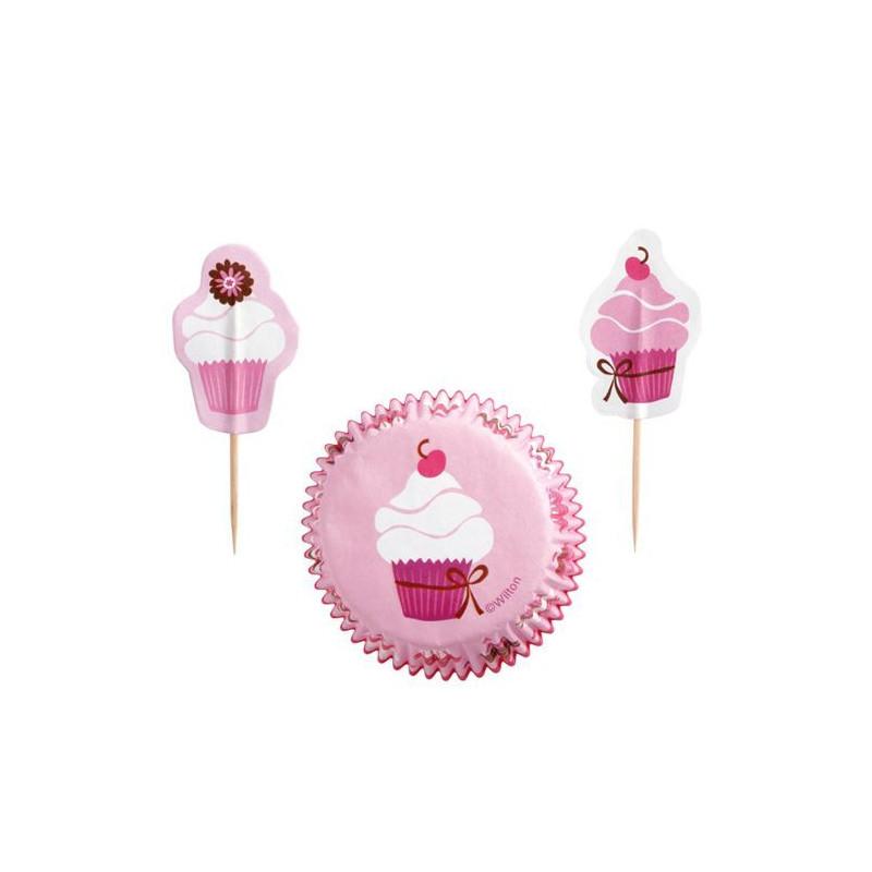 Set para cupcakes: Cupcakes fiesta rosa Wilton