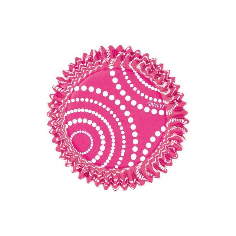 Capsulas antigrasa rosas con lunares Wilton