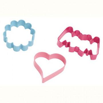 Cortante pack 3 cortantes galleta: Flor, Corazón y Mama