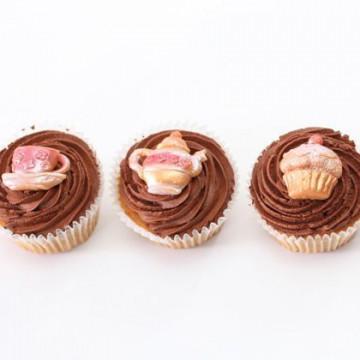 Molde de silicona Teatime Treat: Cupcake, tetera y tacita de té