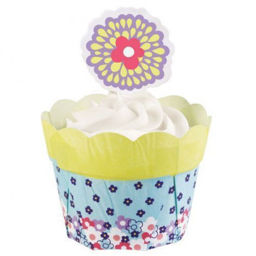 Set para cupcakes: Flower Pot Amarillo Wilton