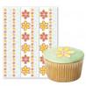 Papel de azúcar pegatinas: Flores y Cenéfas de flores Wilton
