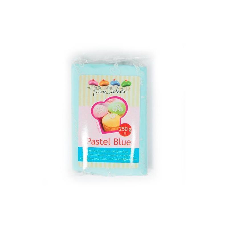 Fondant azul pastel pastel blue Funcakes 250 gramos