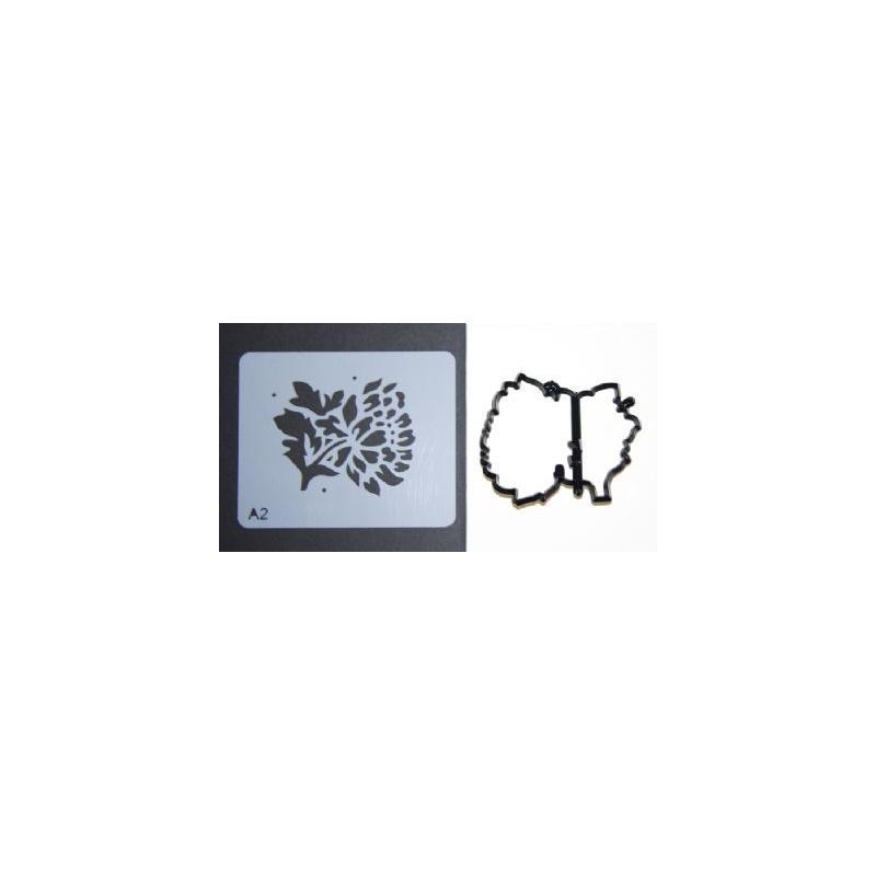 Patchwork + Stencil Crisantemo