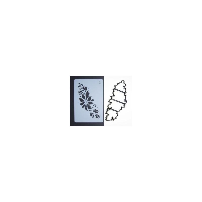 Patchwork + Stencil Poinsettia Garland