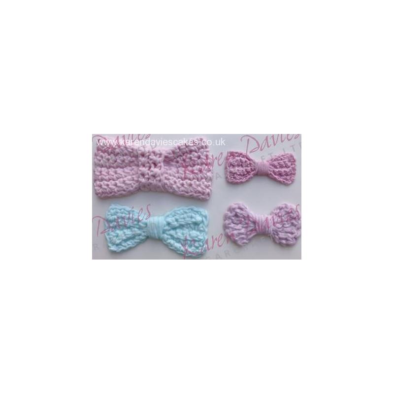 Molde silicona Crochet Lazos Karen Davies