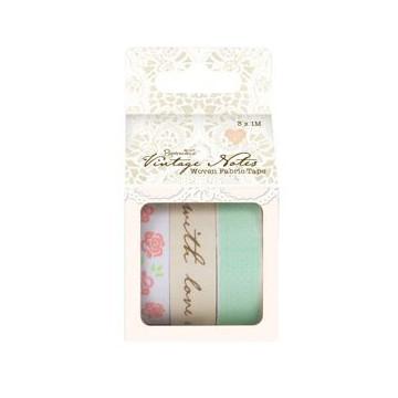 Pack 3 cintas Fabric Tape Vintage DC