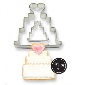 Pack de 2 cortantes Tarta de boda PME