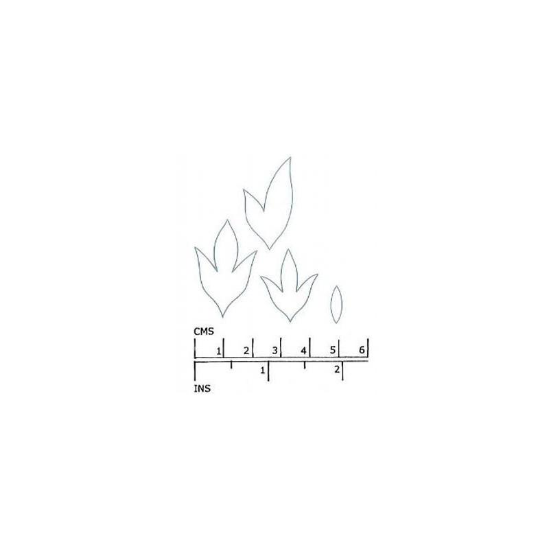 Cortante pack 4 hojas Peonia KitB