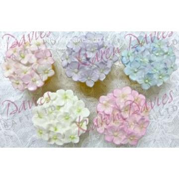 Molde silicona Hortensias Cupcake Karen Davies