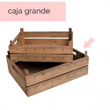 Caja de madera con medidas Grande