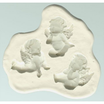 Molde silicona Querubines Bebes Angelitos DPM