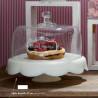 Cake Stand + Cúpula 32 cm Dolci Manie-Alzata Tognana