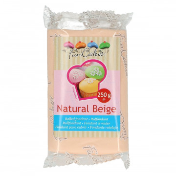 Fondant Beige Natural Funcakes 250gr
