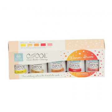 Pack 5 colorantes liposolubles tonos Calidos Squire Kitchen