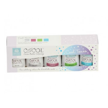 Pack 5 colorantes liposolubles tonos Frios Squire Kitchen