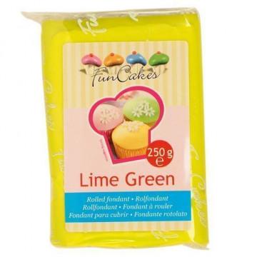 "Fondant lime green ""verde limón"" Funcakes 250 gramos"