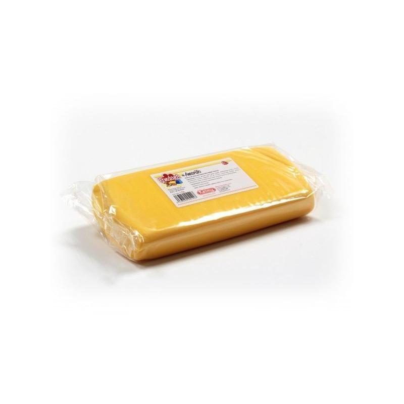 Fondant listo para usar Amarillo 1kg Kelmy
