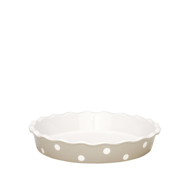 Fuente redonda de cerámica Beig with Dots Green Gate